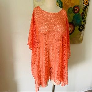 Tempo by Lavello Coral Easy Style Poncho